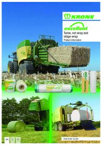 Twine, net wrap and silage wrap