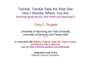 Twinkle, Twinkle Data the Real Star How I Wonder Where You Are (And how good are you and where you should go?)