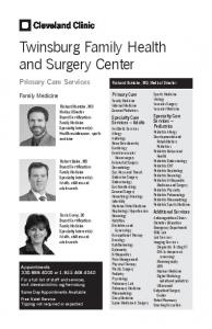 Twinsburg Family Health and Surgery Center