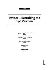 Twitter Recruiting mit 140 Zeichen