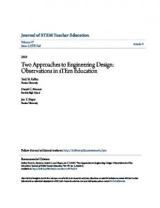 Two Approaches to Engineering Design: Observations in stem Education