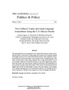 Two-Cultures? Latino and Asian Language Assimilation Along the U.S.-Mexico Border