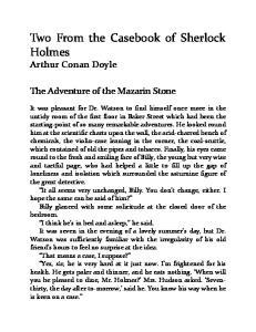 Two From the Casebook of Sherlock Holmes Arthur Conan Doyle