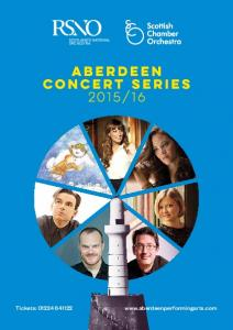 Two great orchestras One great season of music at the Aberdeen Music Hall