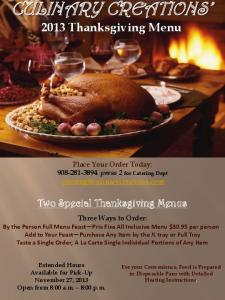 Two Special Thanksgiving Menus