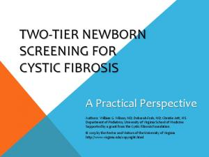 TWO-TIER NEWBORN SCREENING FOR CYSTIC FIBROSIS