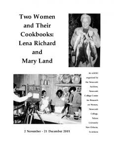 Two Women and Their Cookbooks: Lena Richard and Mary Land