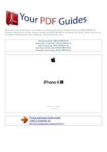 Twoja instrukcja użytkownika APPLE IPHONE 4S