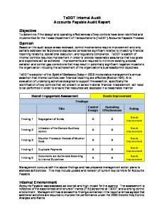 TxDOT Internal Audit Accounts Payable Audit Report
