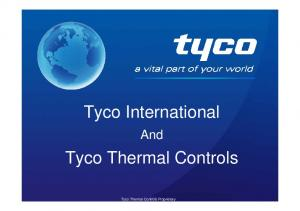 Tyco International. Tyco Thermal Controls