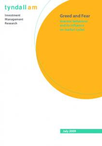 tyndall am Greed and Fear Investor behaviour and its influence on market cycles Investment Management Research