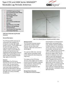 Type 2731 and 2004 Series GRANGER Rotatable Log-Periodic Antennas
