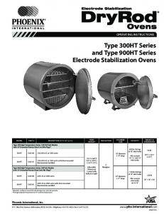 Type 300HT Series and Type 900HT Series Electrode Stabilization Ovens