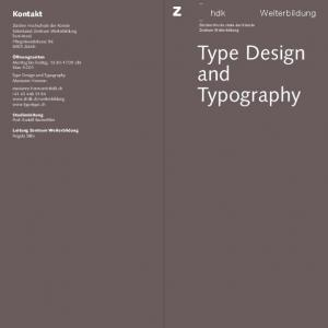 Type Design and Typography