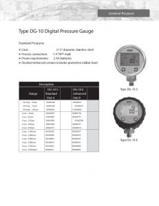 Type DG-10 Digital Pressure Gauge