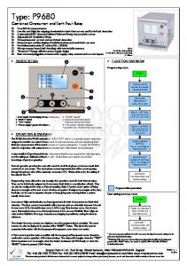 Type: P9680 Combined Overcurrent and Earth Fault Relay