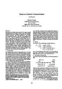 Types as Abstract Interpretations