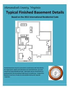 Typical Finished Basement Details