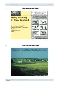 Typical rural New England scene. Dairy Farming in New England