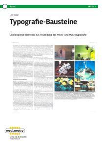 Typografie-Bausteine