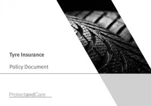 Tyre Insurance. Policy Document