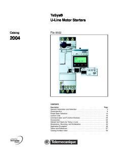 U-Line Motor Starters