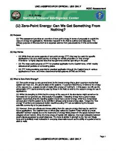 (U) Zero-Point Energy: Can We Get Something From Nothing?