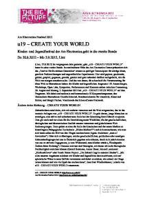 u19 CREATE YOUR WORLD