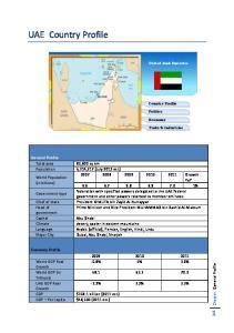 UAE Country Profile. General Profile