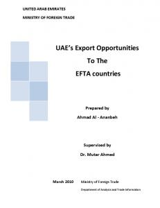 UAE s Export Opportunities To The EFTA countries
