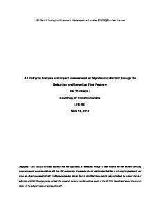 UBC Social Ecological Economic Development Studies (SEEDS) Student Report