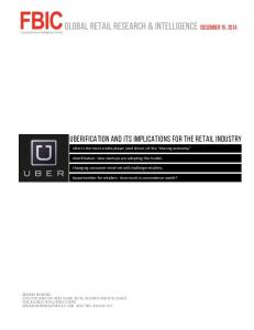 UberIfication and its Implications for the Retail Industry