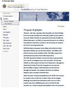 U.C. Berkeley Program Highlights. PDF Version