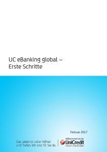 UC ebanking global Erste Schritte