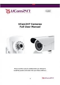 UCam247 Cameras Full User Manual