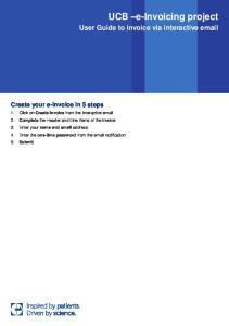 UCB e-invoicing project