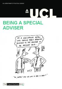 UCL DEPARTMENT OF POLITICAL SCIENCE. Being A Special. The Constitution Unit