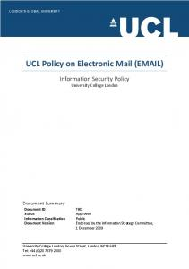UCL Policy on Electronic Mail ( )