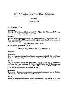 UCLA Algebra Qualifying Exam Solutions