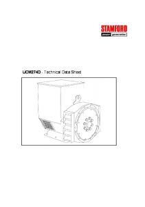UCM274D - Technical Data Sheet