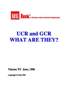 UCR and GCR WHAT ARE THEY?