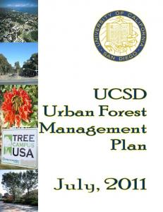 UCSD Urban Forest Management Plan