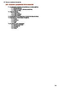 UD1. Estructura y propiedades de las sustancias