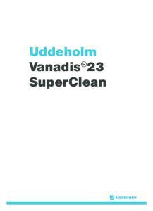 Uddeholm Vanadis 23 SuperClean