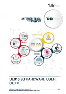 UE910 3G HARDWARE USER GUIDE