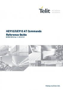 UE910 AT Commands Reference Guide ST10091A Rev