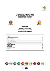 UEFA EURO 2012 DOSSIER DE PRENSA
