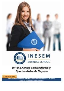 UF1818 Actitud Emprendedora y Oportunidades de Negocio