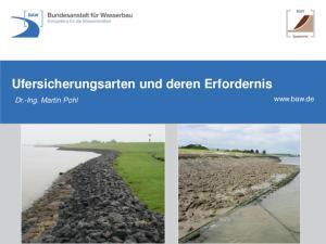 Ufersicherungsarten und deren Erfordernis