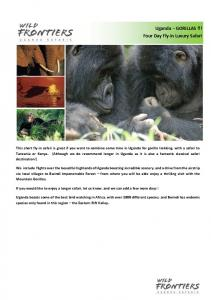 Uganda GORILLAS!!! Four Day Fly-in Luxury Safari